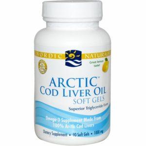 Arctic Cod Liver Oil Soft Gels (Lemon) 90 Soft Gels - Nordic Naturals