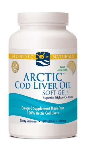 Arctic Cod Liver Oil Soft Gels (Lemon) 180 Soft Gels - Nordic Naturals