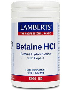 Betaine HCl 324mg /Pepsin 5mg - 180 Tablets - Lamberts