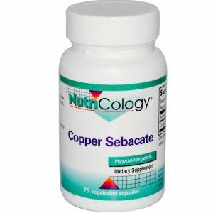 Copper Sebacate, 75 Veggie Caps - Nutricology / ARG