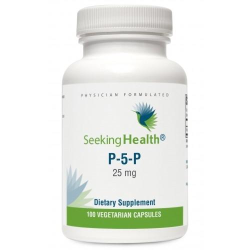 Pyridoxal 5-Phosphate (P5P) - 25 mg - 100 Vegetarian Capsules - Seeking Health