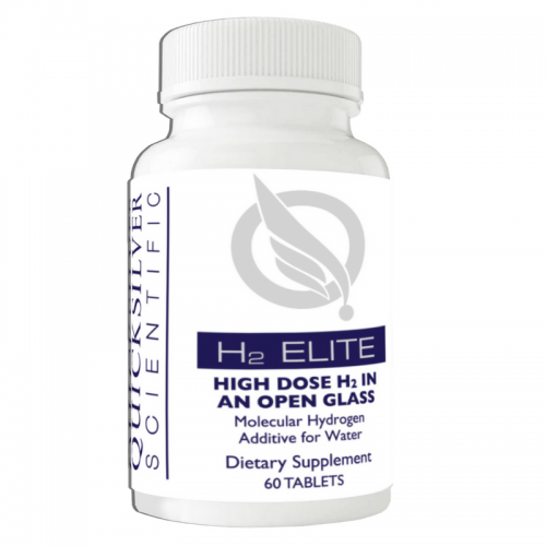 H2 Elite (formerly Active H2) All-Natural Molecular Hydrogen Antioxidant (60 tablets) - Quicksilver Scientific