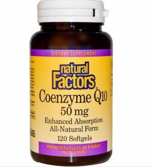 Coenzyme Q10, Enhanced Absorption, 50 mg, 120 Softgels - Natural Factors