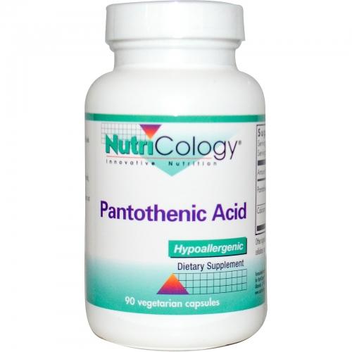 Pantothenic Acid 500 mg 90 caps - Nutricology / ARG
