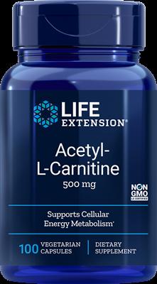 Acetyl-L-Carnitine 500 mg 100 veg caps - Life Extension