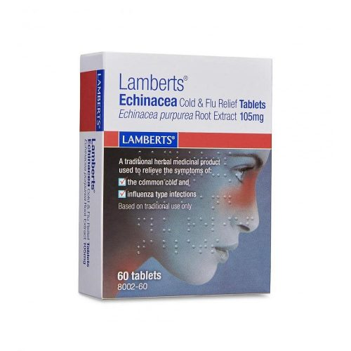 Echinacea Cold & Flu Relief (105mg) 60 Tabs - Lamberts
