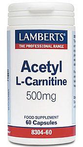 Acetyl L-Carnitine 500mg 60 Caps - Lamberts