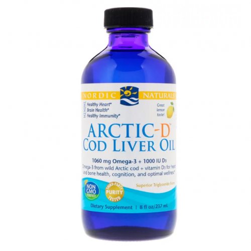 Arctic-D Cod Liver Oil (Lemon) 237 ml - Nordic Naturals