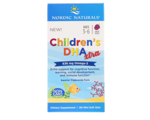 Children's DHA Xtra (Berry Punch) 90 Mini Soft Gels - Nordic Naturals