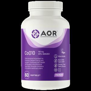 CoQ10 100mg 60 Softgels - AOR