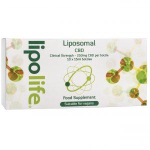 Liposomal Hemp - 2500mg CBD per pack (Clinical Strength) - 10 x 15ml bottles @ 250mg each - Lipolife