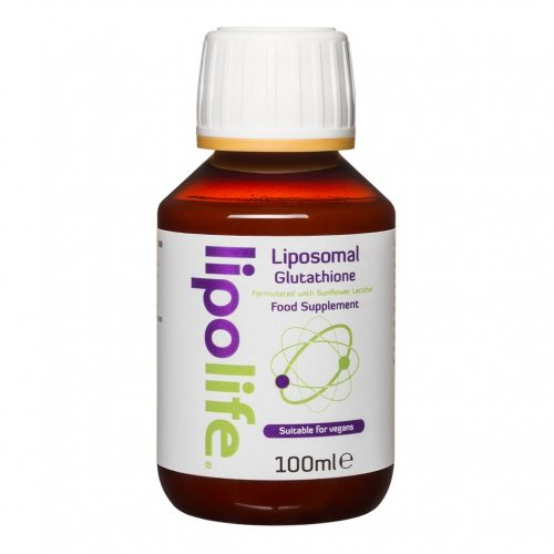 Liposomal Glutathione formulated with sunflower lecithin 100ml (450mg/5ml) - Lipolife