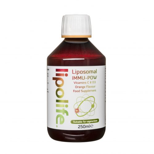 Immu-POW - Liposomal Vitamins C and D3 - 250ml - Lipolife