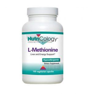 L-Methionine 500mg - 100 Veg Capsules - Nutricology