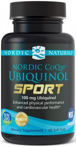 CoQ10 Ubiquinol Sport 100mg - 60 softgels - Nordic Naturals